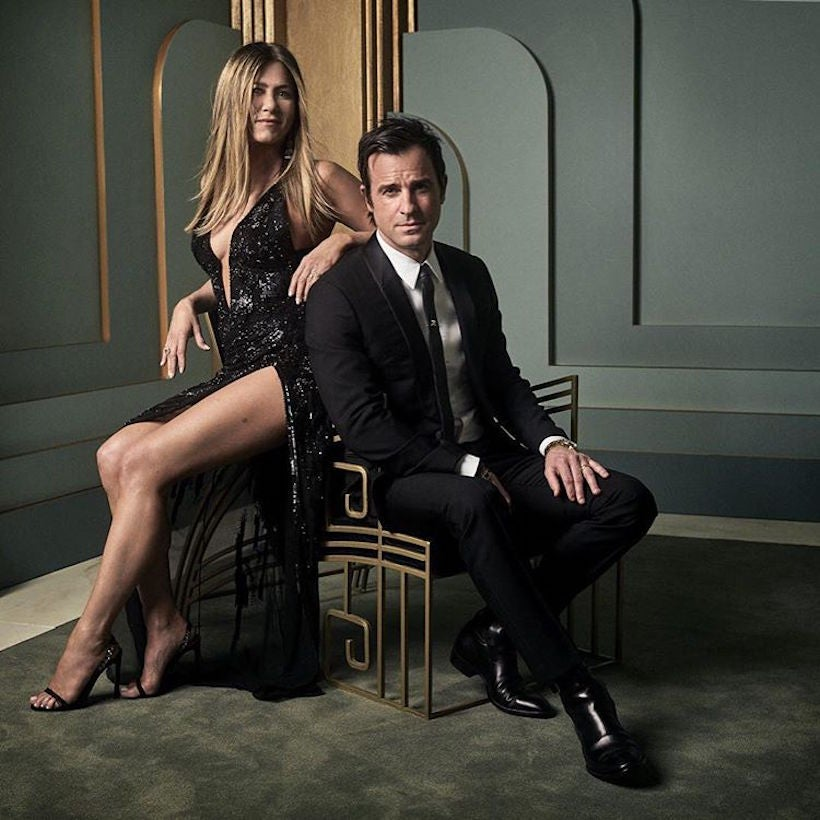 Jennifer Aniston et Justin Theroux. (Mark Seliger pour Vanity Fair)